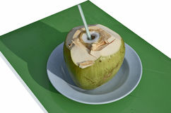 Opened coconut for the water Royalty Free Stock Image