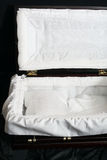 Opened coffin Stock Photos