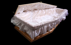 Opened coffin Royalty Free Stock Image