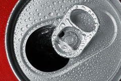 Opened cold drink tab Stock Photography