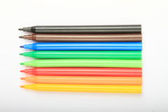 Opened colorful pencils Royalty Free Stock Image