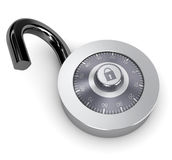 Opened combination lock Royalty Free Stock Photography