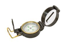 Opened compass on white background royalty free stock photos