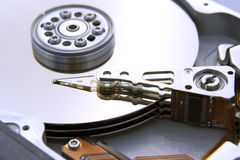 Opened Computer Hard Drive Stock Images