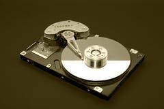 Opened computer hard drive Stock Image