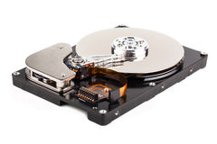 Opened computer hard drive Royalty Free Stock Image