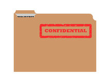 Opened confidential envelope Stock Photography