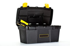 Opened construction toolbox Stock Photos