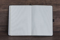 Opened copy book with blank sheets Royalty Free Stock Photo