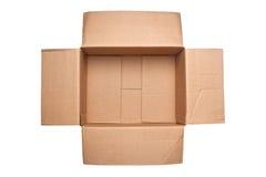 Opened corrugated cardboard box Royalty Free Stock Photo