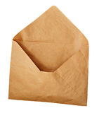 Opened craft paper envelope Royalty Free Stock Images