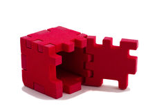 Opened cube puzzle. Concept of problem solved. Stock Photography