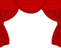 Opened Curtain Royalty Free Stock Photos
