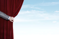 Opened curtain Royalty Free Stock Photo