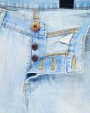 Opened denim jeans fly fragment Stock Image
