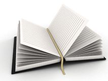 Opened diary Royalty Free Stock Photography