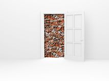 Opened door. Royalty Free Stock Image