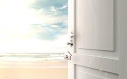 Opened door stock images