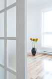 Opened Door Leading Into A Room Full Of Light Royalty Free Stock Photography