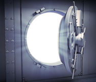 Opened door to a bank vault Royalty Free Stock Photography