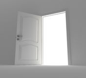 Opened door to light Stock Photography