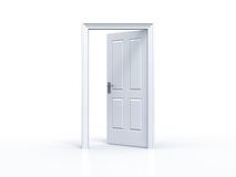 Opened door on white background Stock Images
