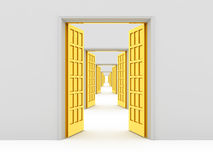 Opened doors Stock Images