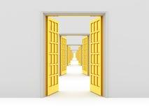 Opened doors Stock Images