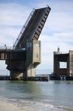 Opened Draw Bridge. A draw bridge in Sea Isle City, NJ in the open position Stock Images