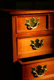 Opened Drawer. An opened drawer on a jewelry box royalty free stock photo