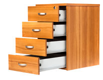 Opened drawers Royalty Free Stock Images