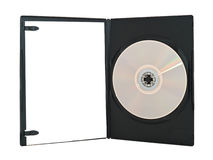 Opened dvd box Stock Image
