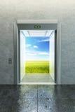 Opened elevator to new life Stock Photo