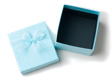 Opened empty blue gift box isolated Royalty Free Stock Photos