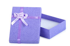 Opened and empty gift box Royalty Free Stock Image