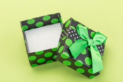 Opened (empty) gift box Royalty Free Stock Image