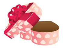 Opened empty heart shaped gift box Stock Image