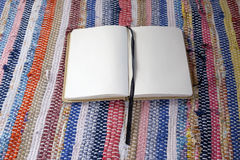 Opened empty notebook royalty free stock photo