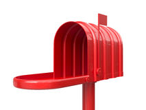 Opened empty red mailbox Royalty Free Stock Photos