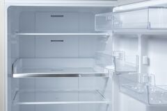 Free Opened Empty Refrigerator. Refrigerator Open Empty Fridge Inside Interior. Close Up On Empty Refrigerator With Door Open Royalty Free Stock Photos - 193797278