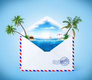 Opened envelope Stock Photography