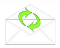 Opened envelope and arrows Royalty Free Stock Image