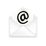 Opened envelope concept Royalty Free Stock Photos