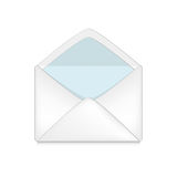 Opened envelope concept Stock Image