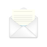 Opened envelope concept Royalty Free Stock Images
