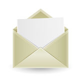 The opened envelope Royalty Free Stock Images
