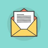 Opened envelope with message Royalty Free Stock Photography