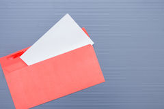 Opened envelope with paper sheet Royalty Free Stock Photo