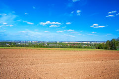 The opened field in the spring. For crops Royalty Free Stock Image