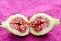 Opened fig with ripe pulp Royalty Free Stock Images